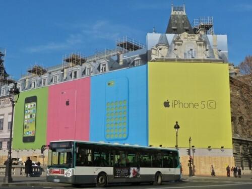 iPhone palais justice affiche géante bâche de travaux 9