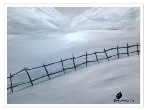 Clôture dans la neige / Fence in the snow