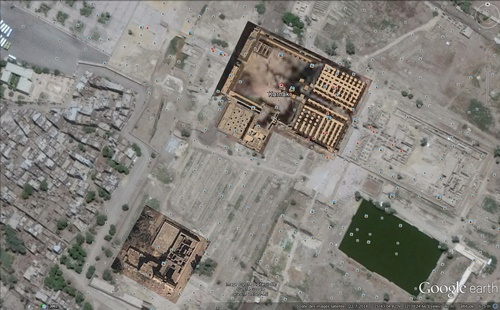 Le Temple de Karnak. (Photo Google Earth)