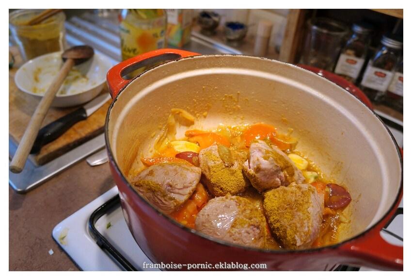 Sot l'y Laisse tomates,curry et gingembre