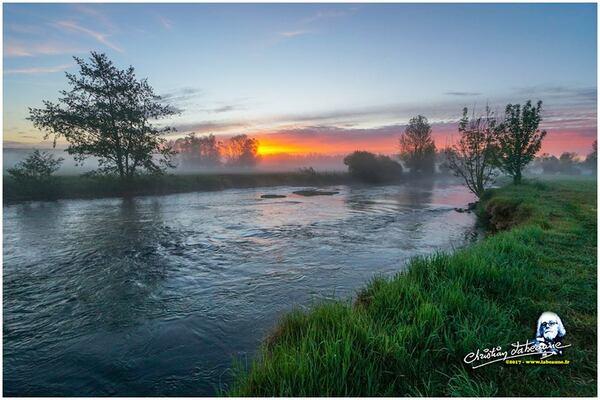 La Seine à Vix, au lever du jour, de superbes photos de Christian Labeaune...