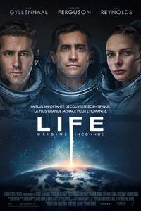 Life - Origine Inconnue : À bord de la Station Spatiale Internationale, les six membres d'équipage font l'une des plus importantes découvertes de l'histoire de l'humanité : la toute première preuve d'une vie extraterrestre sur Mars. Alors qu'ils approfondissent leurs recherches, leurs expériences vont avoir des conséquences inattendues, et la forme de vie révélée va s'avérer bien plus intelligente que ce qu'ils pensaient ... ----- ... Origine : américain  Réalisation : Daniel Espinosa  Durée : 1h 44min  Acteur(s) : Jake Gyllenhaal,Ryan Reynolds,Rebecca Ferguson  Genre : Science fiction,Thriller  Date de sortie : 19 avril 2017  Année de production : 2017  Distributeur : Sony Pictures Releasing France  Titre original : Life