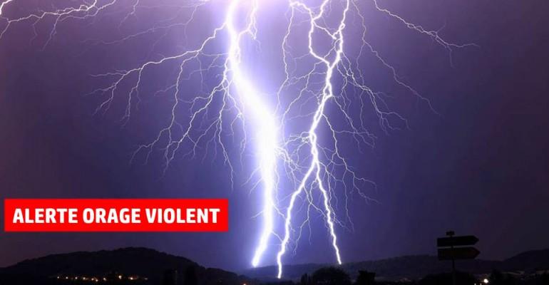 Risques d'orages violents: 28 départements du Sud et du centre en vigilance