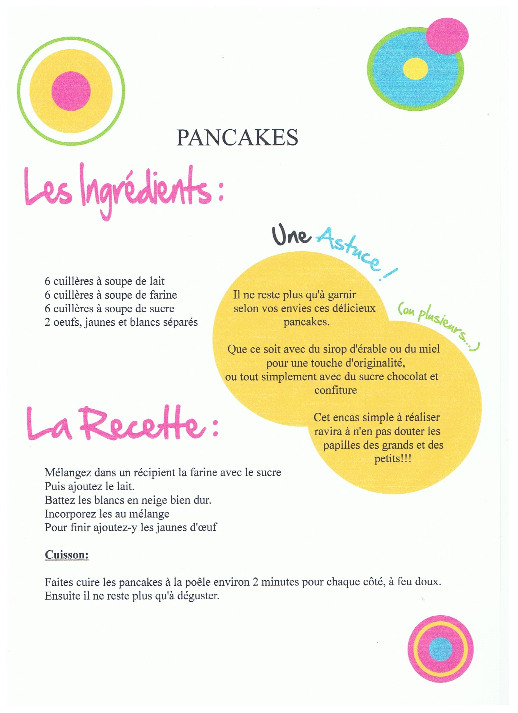 recette pancakes anglais