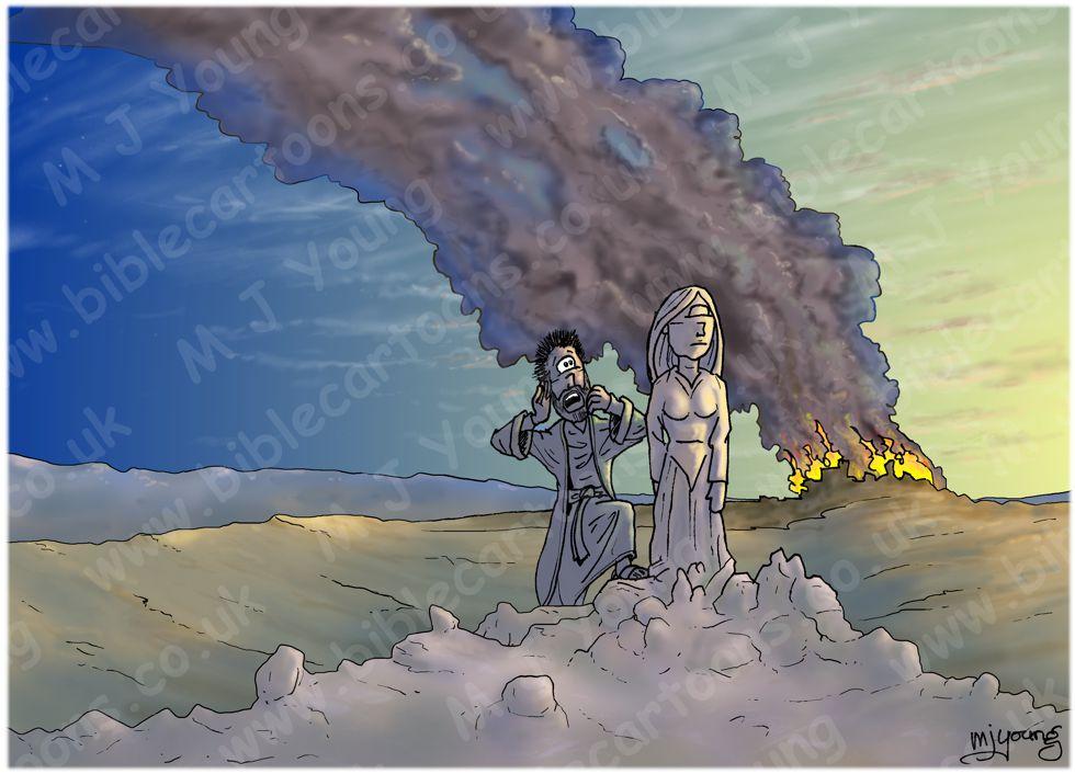 Genesis 19 - Sodom and Gomorrah - Scene 09 - Pillar of Salt (Daybreak version)