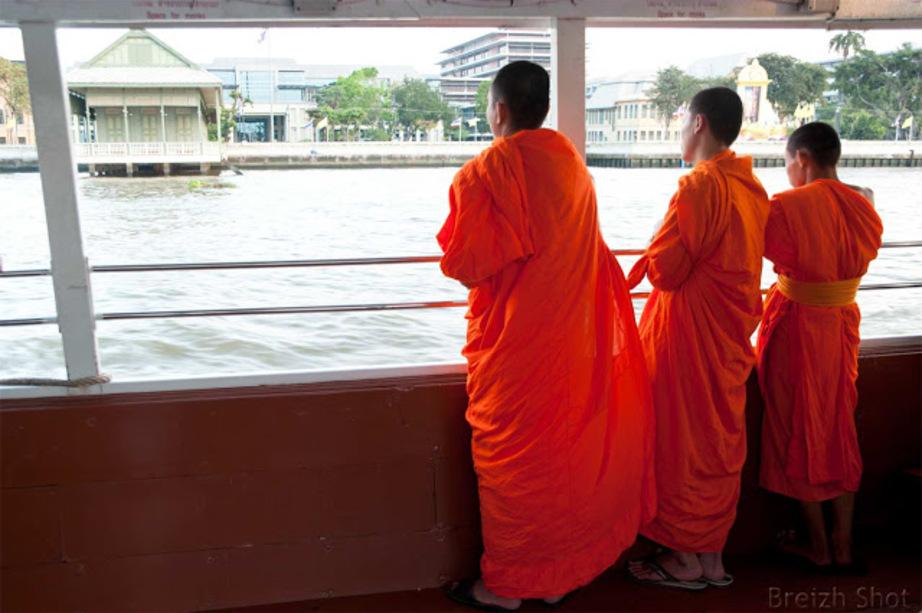 Chao Phraya,  bateau bus, station Tewet