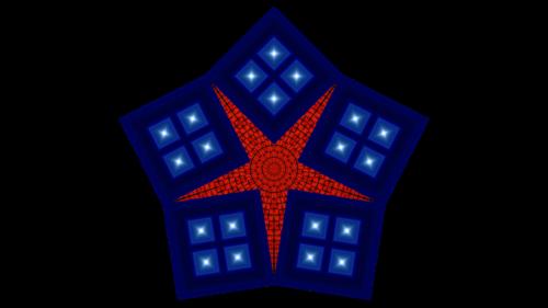 Une étoile faite avec 5 cubes et une sphère