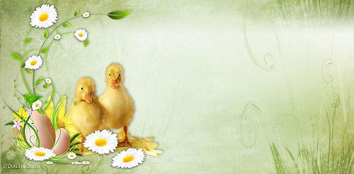 Papiers incrédimail pour Pâques 2