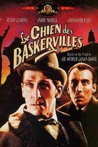 Le Chien des Baskerville : Le malheur poursuit la famille Baskerville depuis que sir Hugo, un ancêtre, tua une paysanne. Tous les membres de la famille meurent de mort violente annoncée et provoquée par un chien fantastique. Henry Baskerville, qui arrive d'Afrique du Sud, decide d'habiter le chateau maudit, mais il est accompagné de ses amis le Dr Mortimer, Sherlock Holmes et le Dr Watson ... ----- ... Origine du film : Réalisateur : Terence Fisher, Acteur(s) :André Morell, Christopher Lee, Ewen Solon, Marla Landi, Peter Cushing, Genre : Epouvante-horreur, Durée : 01h 27min Date de sortie : 1959-01-01 Année de production : 1959.