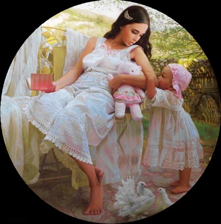 tubes femmes avec enfants