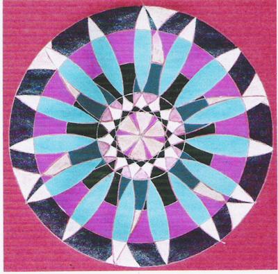 Blog de mimipalitaf :mimimickeydumont : mes mandalas au compas, un autre mandala
