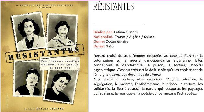 Trois femmes, trois résistantes, trois héroïnes de la guerre d'Algérie