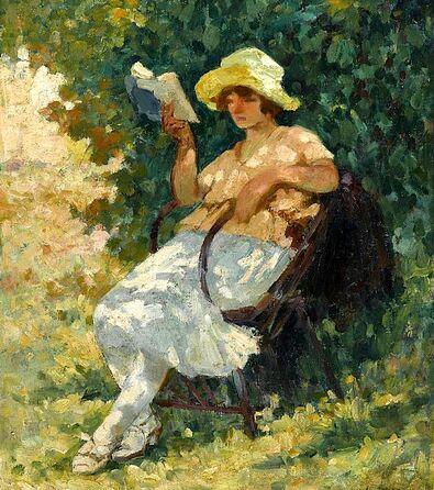 06 - Femmes lisant - Peintures 19eme