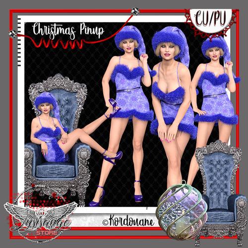 Pinup femme Noël (tube-poser)