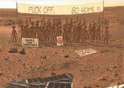Humour extraterrestre.