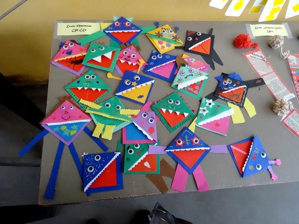 Pour la journée de l'écrit, les élèves des écoles de Châtillon sur Seine ont réalisé des marque-pages...