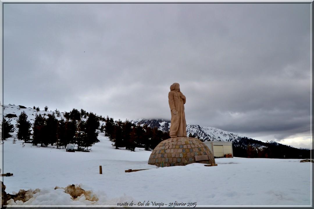 Col de Vergio sous la neige - Corse -21-02-2015