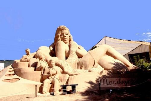 Sculpures à Pera Marilyn Monroe