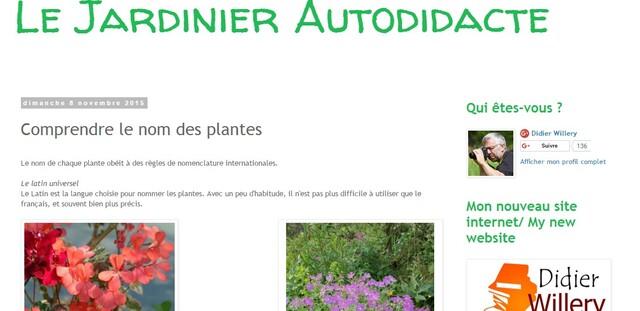 Comprendre le nom des plantes avec Didier Willery