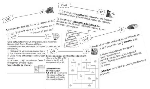 Fichier exercices maths en autonomie - Cm2