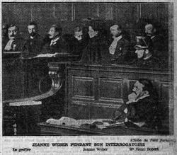 Jeanne Weber en procès