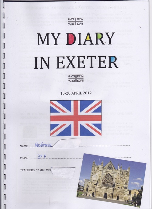 MY DIARY IN EXETER