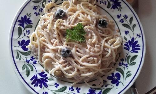Spaghettis au thon et aux olives- Cookeo