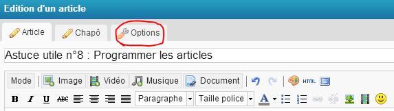 Astuce utile n°8 : Programmer les articles