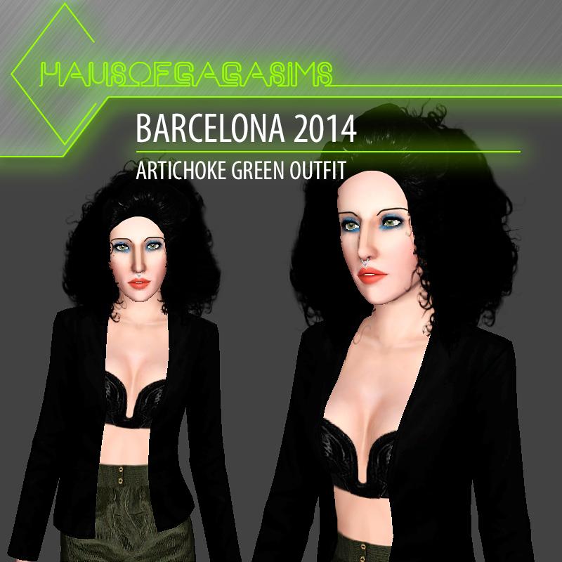 BARCELONA 2014 ARTICHOKE GREEN OUTFIT