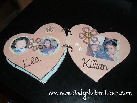 Mini album scrap en coeur