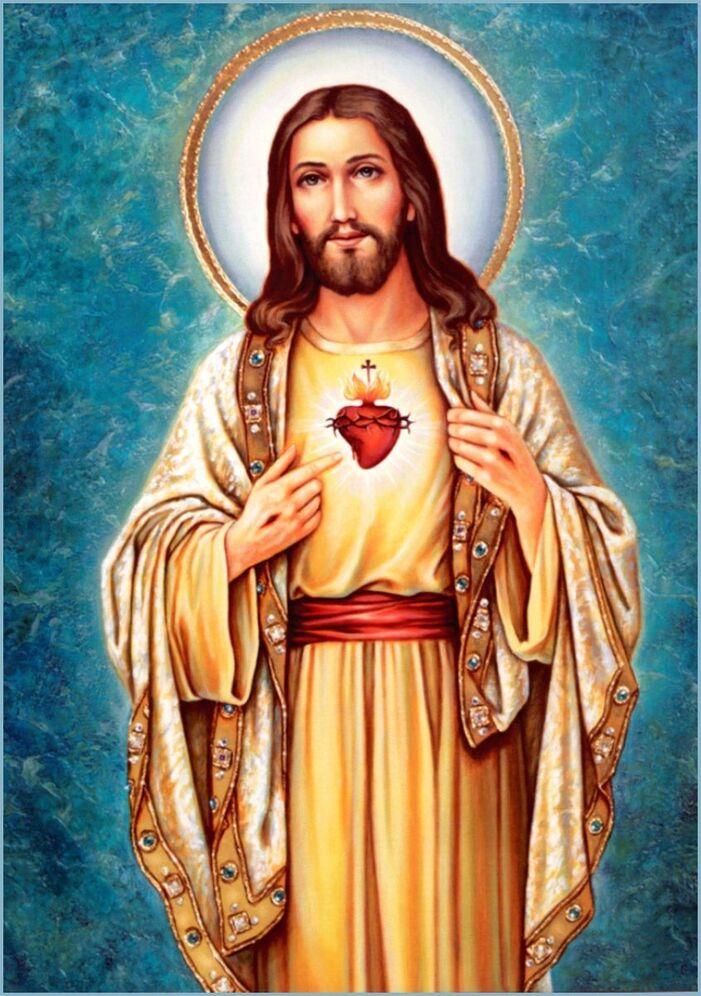 Le Mois du Sacré Cœur de Jésus - images saintes | Sacré coeur de ...
