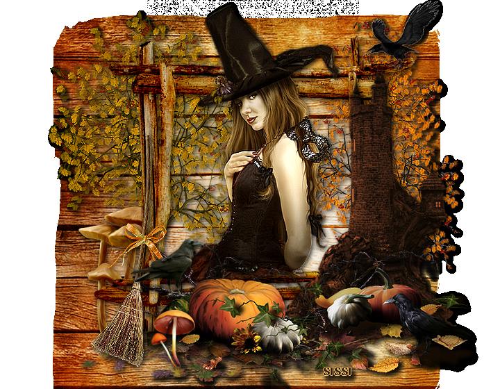 * Halloween jolie sorcière *