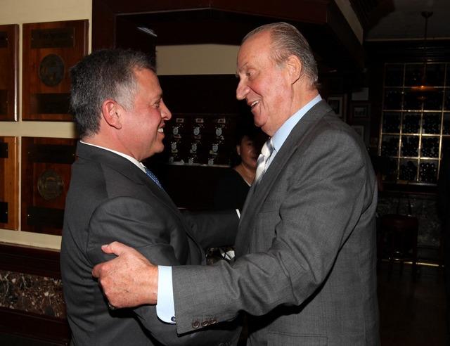 Juan Carlos d'Espagne et Abdallah de Jordanie