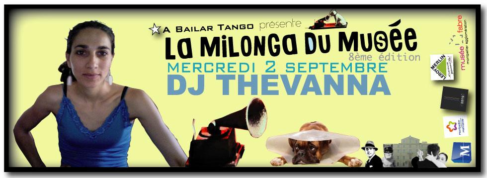 ★ Ce mercredi 2 septembre, DJ THEVANNA musicalise La MILONGA Du MUSEE ★