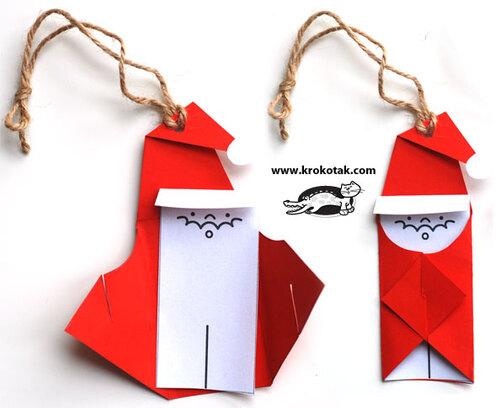 Père Noël en pliage
