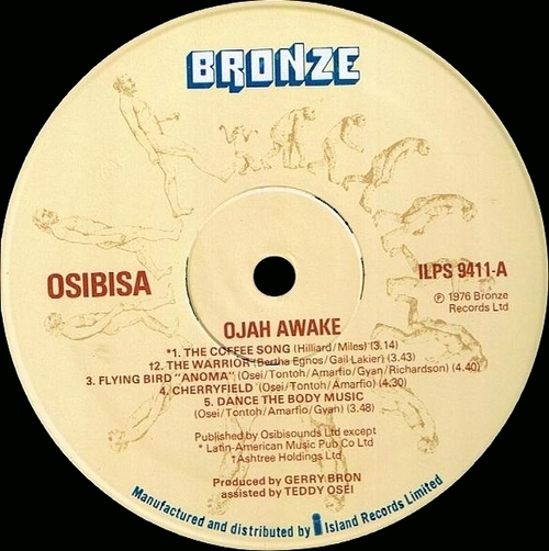 "1976 : Album "" Ojah Awake "" Bronze Records ILPS 9411 [ UK ]"