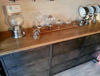 mobilier industriel acier et bois o'range Metalic Meuble a clapets 2