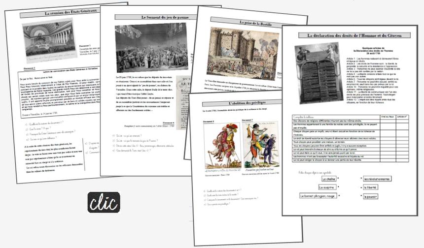 La Révolution française CM - étude de documents et trace écrite