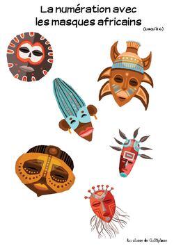La numération avec les masques africains