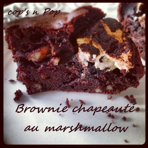 Brownie chapeauté au marshmallow