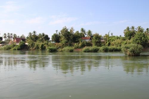 Balade en pirogue de l'île de Khong à l'île de Khöne