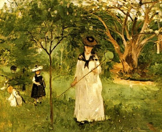 Berthe Morisot, La chasse aux papillons
