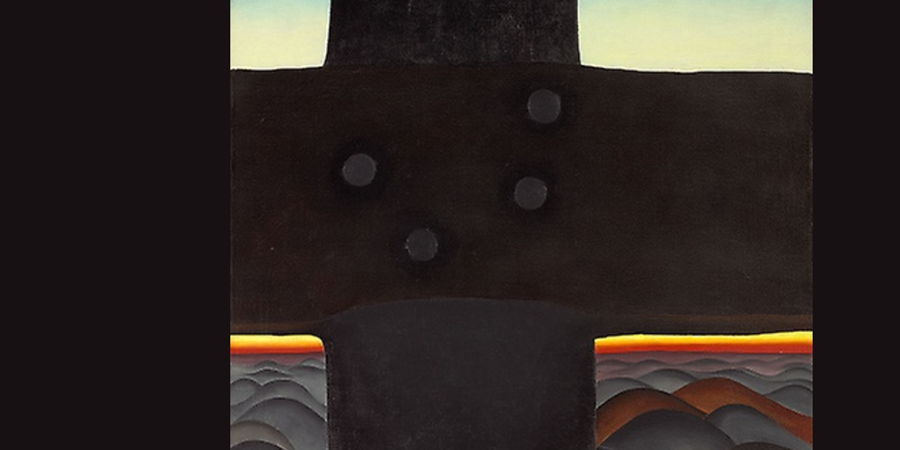 Crédit d'image: Black Cross, New Mexico (détail), Georgia O'Keefe, 1929, The Art Institute of Chicago, Chicago, IL.  www.artic.edu