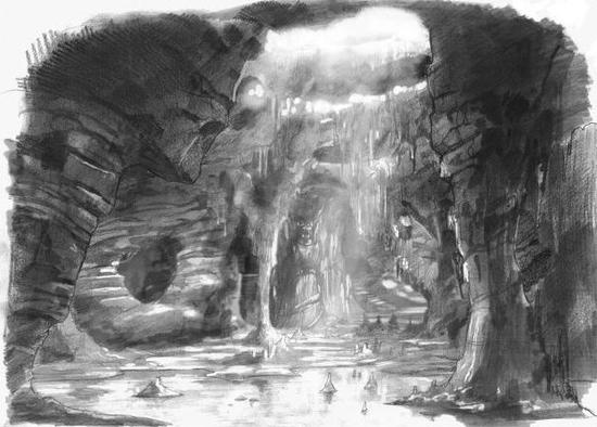 Décors Rouen Grotte GarGhoul