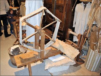 Filage et tissage de la laine (vieux métiers d'Argol)