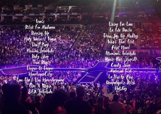 Rebel Heart Tour Lyrics Book