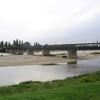 Pont de Pouilly sur Loire, exactement à mi chemin entre source et estuaire