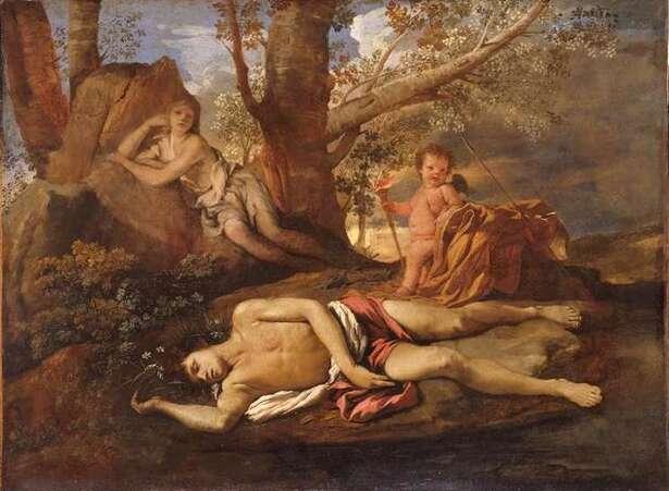 Poussin-Echo et Narcisse