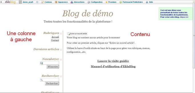Le blog à son début