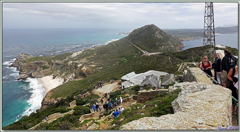 Panorama sur Cape Peninsula vue du sommet de Cape Point - Afrique du Sud